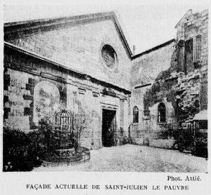 facade de saint-julien le pauvre