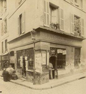 Cabaret XVIIème siècle, Rue Mouffetard - 1900