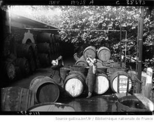 les buveurs de vin au tonneau