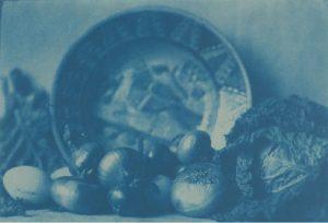 Assiette, choux et oignons - Henri Le Secq