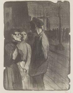 Filles et souteneur - Théophile Alexandre Steinlen